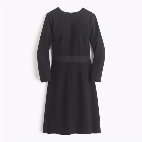 J. Crew Dresses & Skirts - J. Crew Double-faced Wool Crepe Dress Black 2